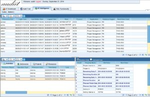 Audit Trail Intelligence view